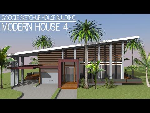 Google Sketchup Speed Building - Modern House 4