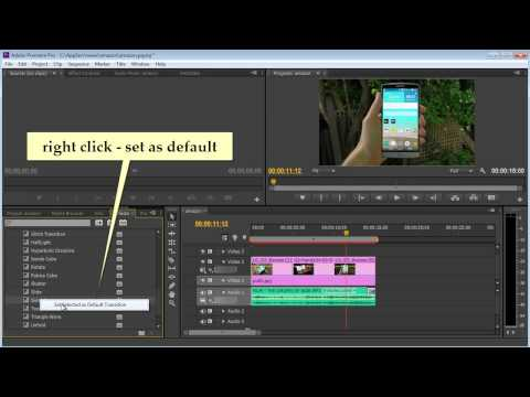 Premiere pro cs6 - apply transition to all clip