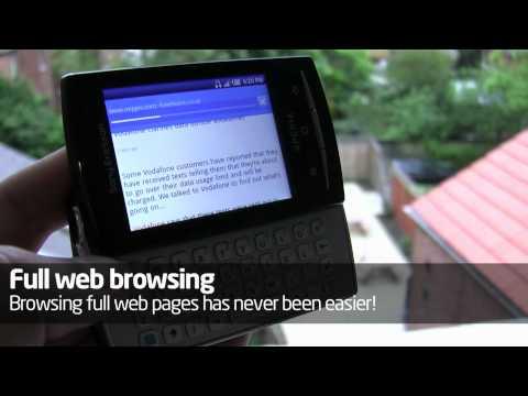 Sony Ericsson Xperia X10 Mini Pro hands-on video