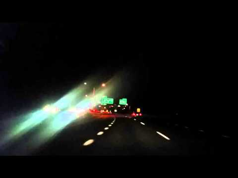 Driving on the I-84 in Danbury Connecticut