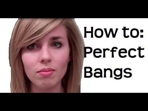 How to : Perfect Side Swept Bangs and Volume Tutorial