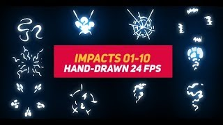Liquid Elements Impacts 01-10 | After Effects template