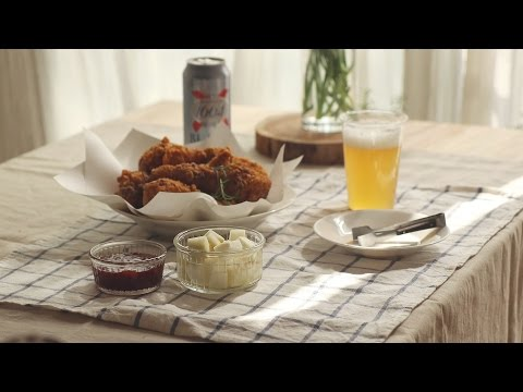 아삭아삭 치킨무 :  Korean Pickled Radish for fried chicken (aka Chicken Mu) | Honeykki 꿀키