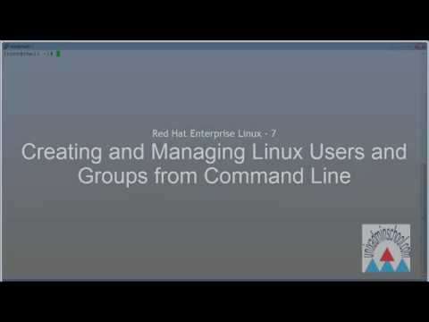 RHEL 7 - User Administration from Command Line