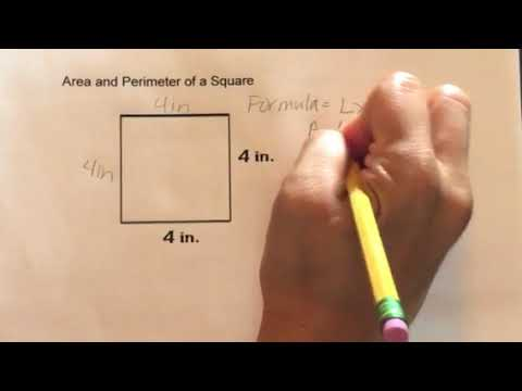 How to find the Area and Perimeter of a Square