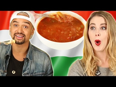 People Try Hungarian Food For The