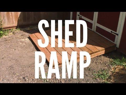Custom Shed Ramp