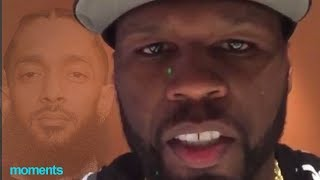 """50 Cent FINALLY Breaks Silence On Nipsey Hussle Death """"This Is Hard For Me, I Really Liked Nipsey"""""""