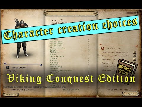 How the starting choices affect the stats ? Guide - Mount&Blade Warband: Viking Conquest