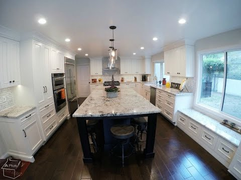 Santa Ana Design Build Home & kitchen Remodel with APlus Custom Cabinets