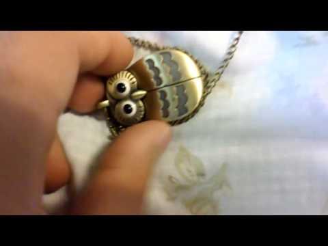 Review on Sakady Bronze Owl Pocket Watch Necklace Steampunk Quartz Watches \