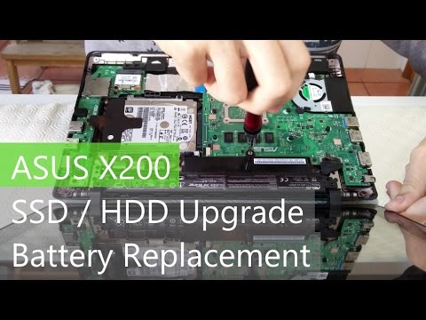 Asus X200M | MA | CA Teardown - Battery And HDD Removal