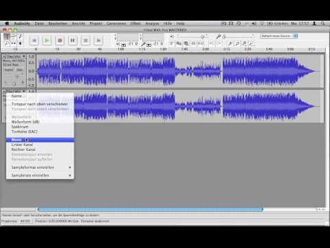 Karaokeversion mit Audacity erstellen