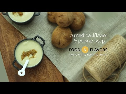 curried cauliflower and parsnip soup | how to make| fnf recipe 16