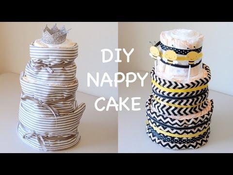 How to Make Diaper Cake | DIY Easy Nappy Cake Tutorial | Ali Coultas