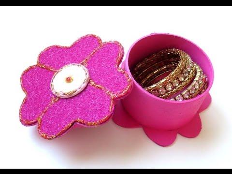 DIY : Flower Jewelry Box   Gift Box - Recycling Cardboard