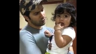 Varun Dhawan playing with cute baby