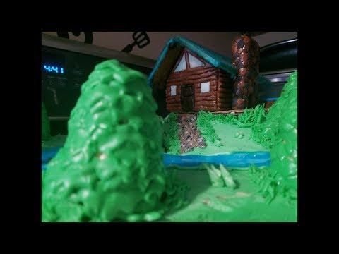 Cabin cake 🏕 Pastel de cabaña 🎂