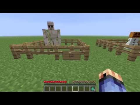 How To Make Golems In Minecraft