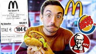 MANGIO I CIBI PIÙ COSTOSI DEI FAST FOOD PER 24H!