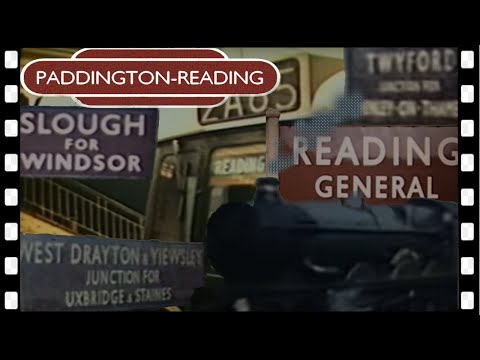 1960 RIDE on a STOPPING TRAIN from PADDINGTON to READING