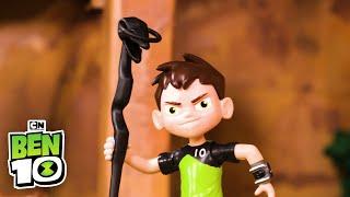 Ben 10 DIAMONDHEAD in The Forbidden Temple! | Ben 10 Toys | Cartoon Network