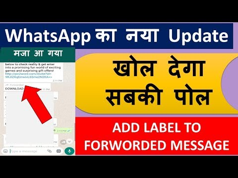 WhatsApp New Update as Start Labelling to Forwarded Messages