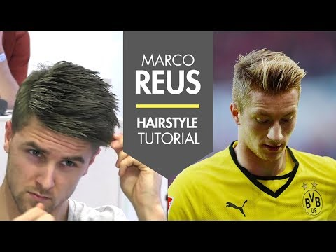 How To Style Your Hair Like Marco Reus - Fresh Men's Football Player Hair Tutorial