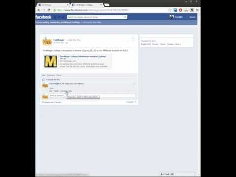 How to get the URL of a Facebook post or comment