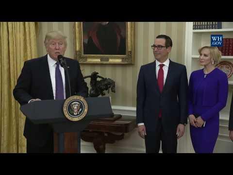 Swearing-In Ceremony of the Secretary of Treasury