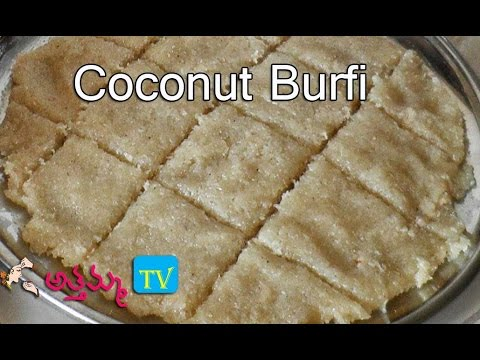How to Cook Easy Coconut Burfi (Traditional Indian Sweet) .:: by Attamma TV .::