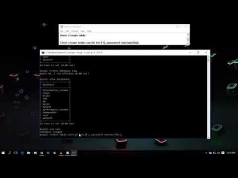 MySQL Create Database Connection With Cmd in Xampp