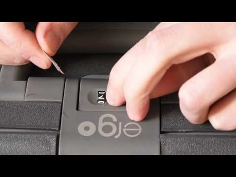 Opening the combination lock on ergo luggage without code.