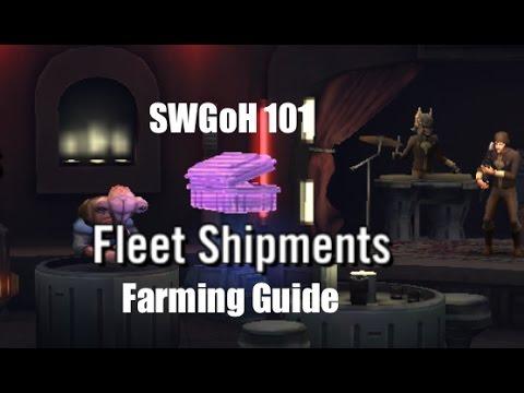 Star Wars Galaxy of Heroes: Fleet Shipments Farming Guide 101