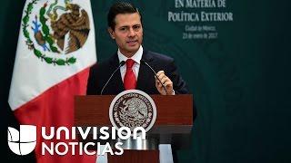 Enrique Peña Nieto cancela su reunión con el presidente Trump e insiste en que México no pagará el m