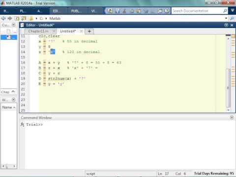Fun with ASCII in MATLAB