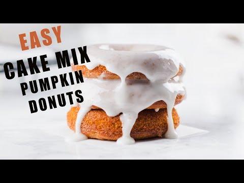 Easy Cake Mix Pumpkin Donuts