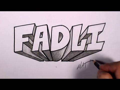 Graffiti Writing Fadli Name Design #49 in 50 Names Promotion | MAT