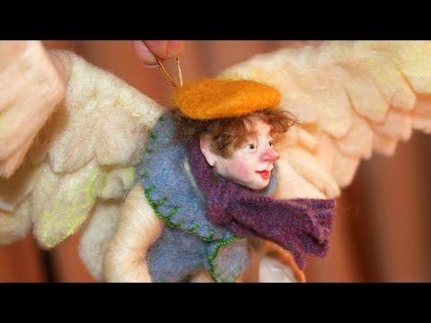 Felted Angel Wings