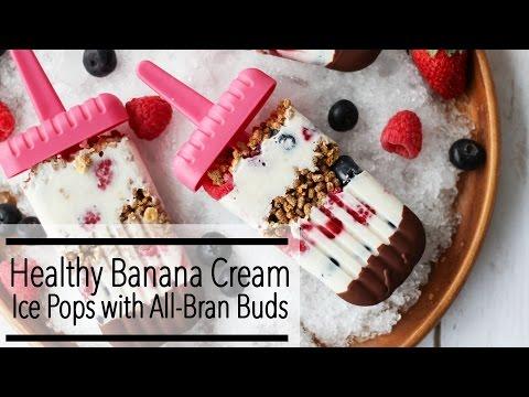 Healthy CHOCOLATE BANANA YOGURT BERRY All-Bran POPSICLES | Perfect SUMMER Popsicle Recipe