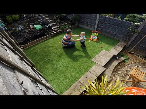 DIY How to lay an Artificial Grass Turf Lawn - Time Lapse