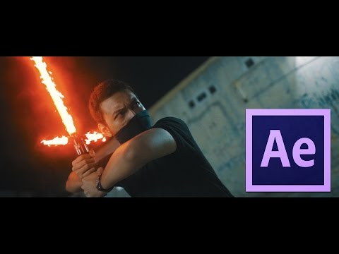 After Effect Tutorial - Kylo Ren's Light Saber Effect & Voice Effects & Space Ship Sound Effects!