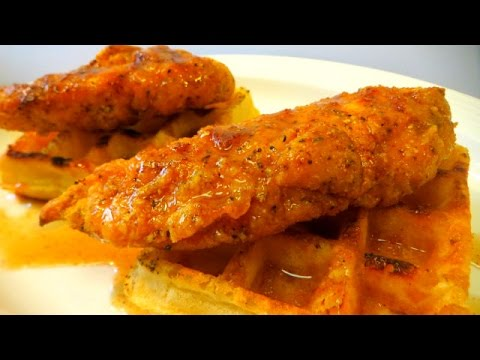 Can You GRILL Chicken and Waffles?? -  How To Make Chicken and Waffles - The Wolfe Pit