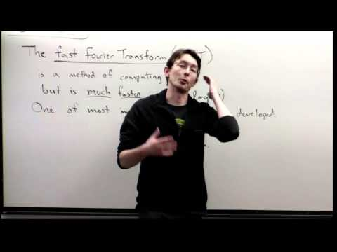 Lecture: Discrete Fourier Transform (DFT) and the Fast Fourier Transform (FFT)