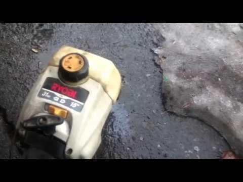 weedwacker running on nitro gas