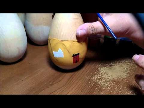 Part 2 of 5 - Primitive Painting Eggs with Country Scenes