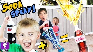 DIET COKE and Mentos Science Experiment by HobbyKidsTV