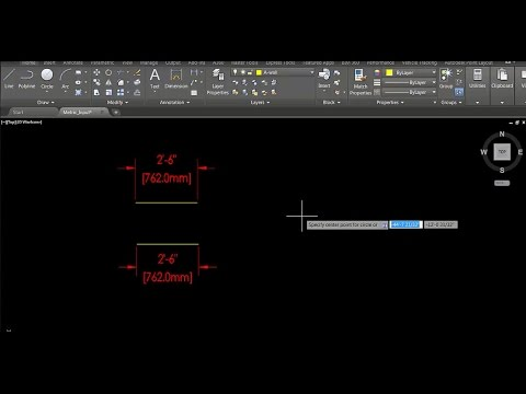 AutoCAD Metric Input Architectural Units DWG