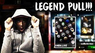 CRAZY 89 OVR LEGEND PULL!!! COIN PACKS ARE FINALLY BACK IN NBA LIVE MOBILE 18!!!