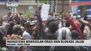 Mahasiswa Papua Terlibat Saling Dorong dengan Polisi saat Berunjuk Rasa di Jatim - iNews Sore 01/07